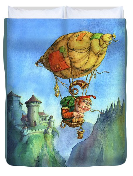 Balloon Ogre Duvet Cover