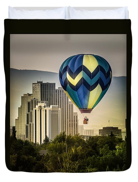 Balloon Over Reno Duvet Cover