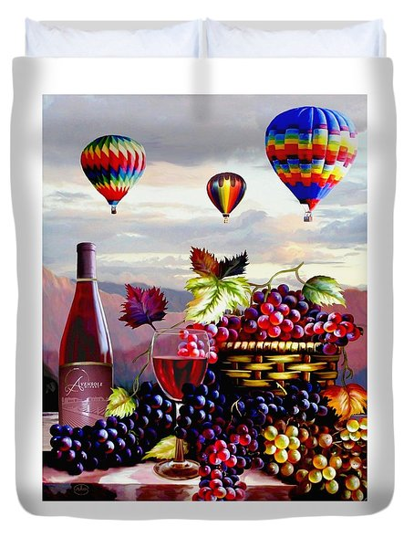 Balloon Ride At Dawn Duvet Cover