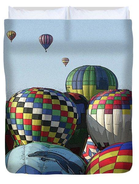 Balloon Traffic Jam Duvet Cover