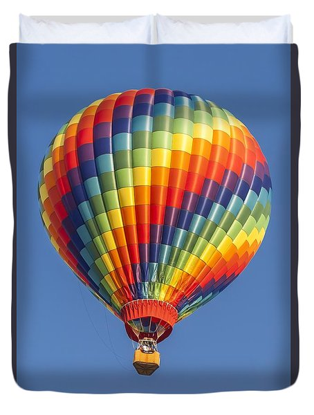 Ballooning In Color Duvet Cover