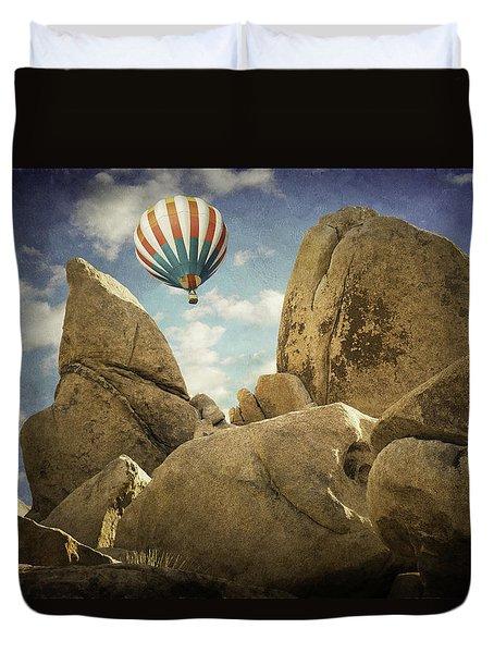 Ballooning In Joshua Tree Duvet Cover