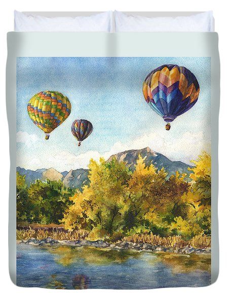 Balloons At Twin Lakes Duvet Cover