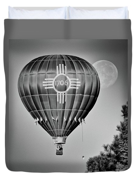 Duvet Cover featuring the photograph Ballunar Eclipse by Kevin Munro