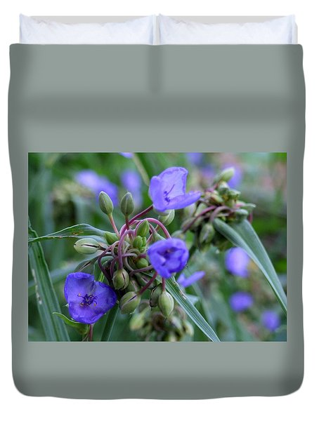 Duvet Cover featuring the photograph Balmy Blue by Michiale Schneider