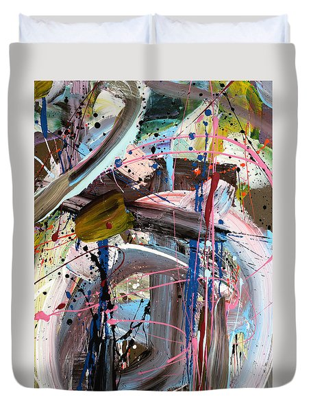 Balmy Nights Abstract Duvet Cover