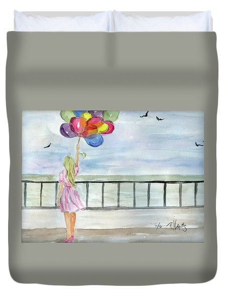 Baloons Duvet Cover by P J Lewis
