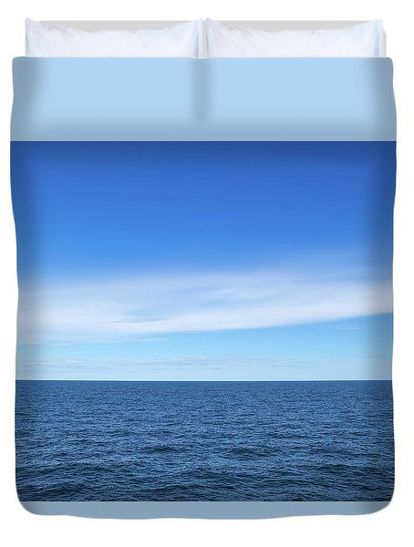 Baltic Sea And Blue Sky Duvet Cover