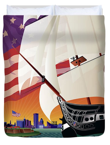 Baltimore - By The Dawns Early Light Duvet Cover