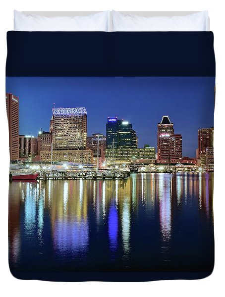 Baltimore Blue Hour Duvet Cover by Frozen in Time Fine Art Photography