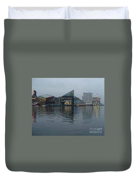 Baltimore Harbor Reflection Duvet Cover by Carol Groenen