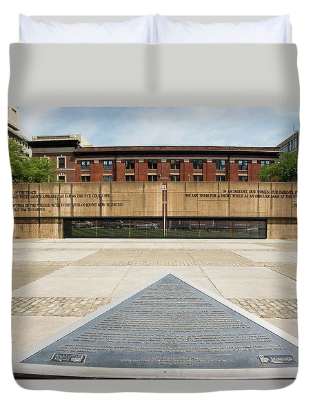 Baltimore Holocaust Memorial Duvet Cover