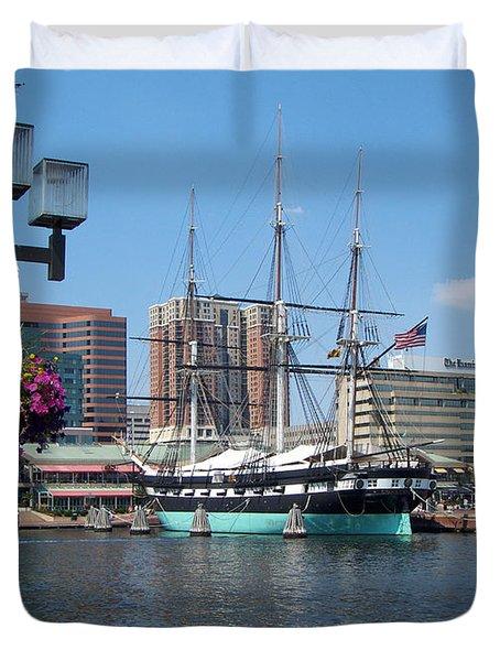 Baltimore Inner Harbor Duvet Cover
