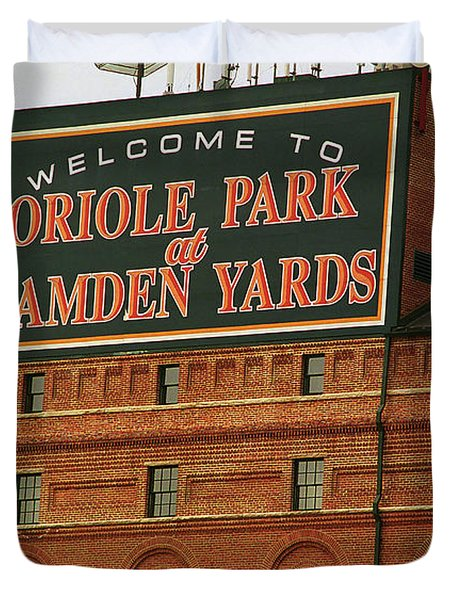 Baltimore Orioles Park At Camden Yards Duvet Cover