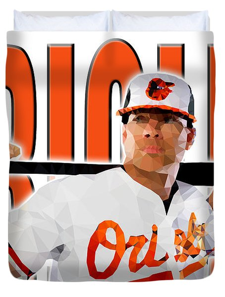 Baltimore Orioles Duvet Cover by Stephen Younts
