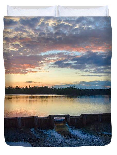 Bamber Lake Sunset Duvet Cover