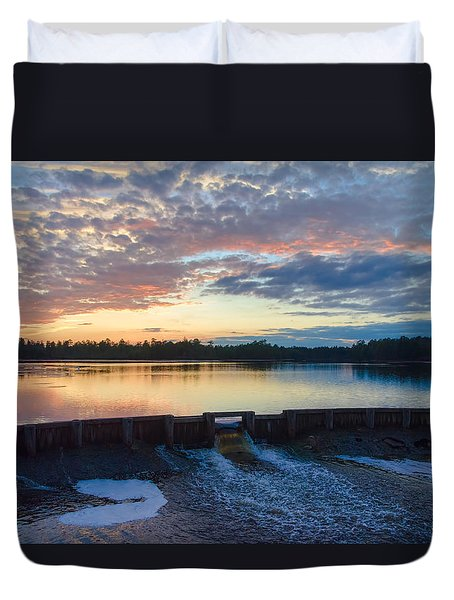 Bamber Lake Sunset Duvet Cover