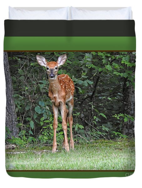Bambi Duvet Cover by Brenda Bostic