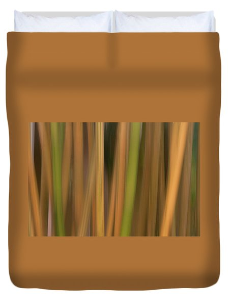 Bamboo Abstract Duvet Cover by Carolyn Dalessandro