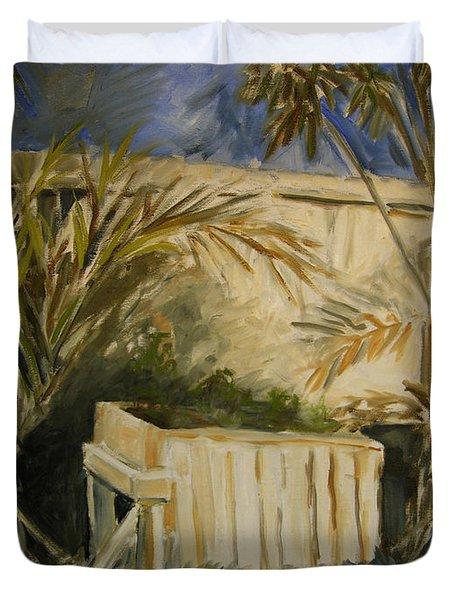 Bamboo And Herb Garden Duvet Cover