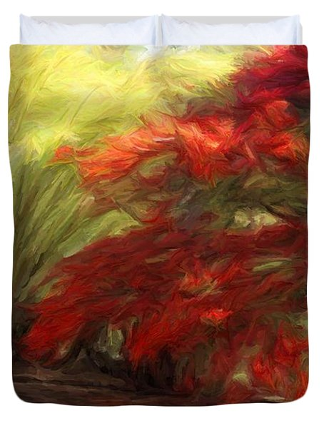 Bamboo And The Flamboyant Duvet Cover