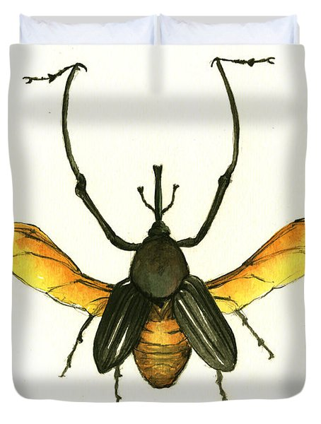 Bamboo Beetle Duvet Cover