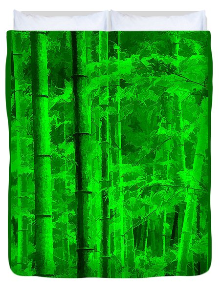 Bamboo Forest Duvet Cover