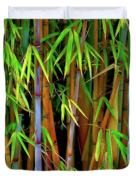 Duvet Cover featuring the photograph Bamboo by Harry Spitz