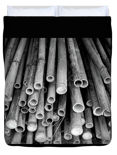 Duvet Cover featuring the photograph Bamboo  by Jingjits Photography