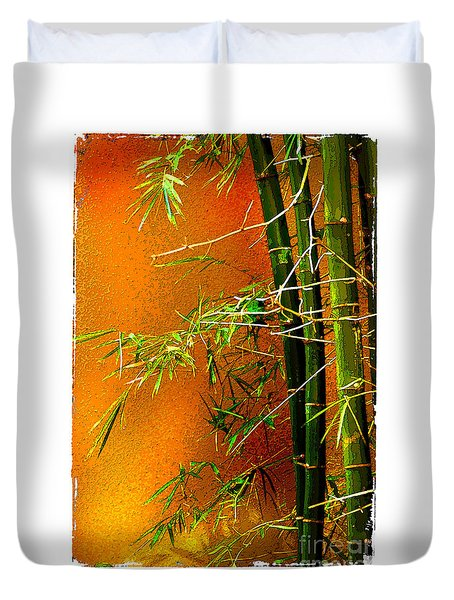 Duvet Cover featuring the photograph Bamboo by Linda Olsen