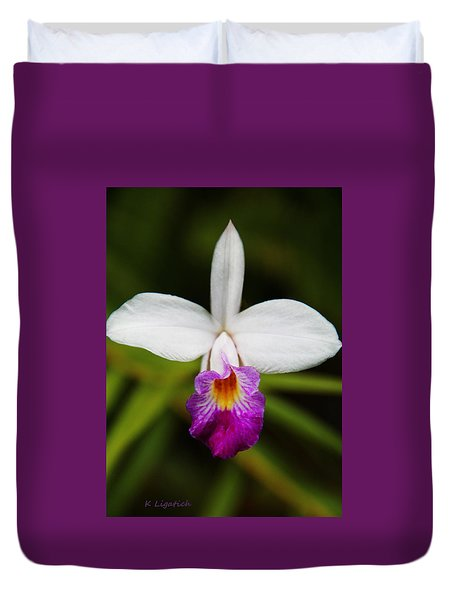 Bamboo Orchid  Duvet Cover
