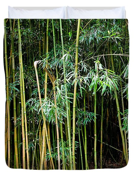Bamboo Wind Chimes  Waimoku Falls Trail  Hana  Maui Hawaii Duvet Cover