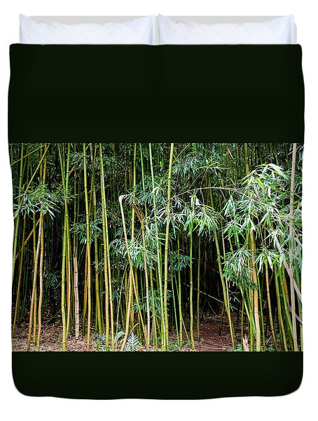 Bamboo Wind Chimes  Waimoku Falls Trail  Hana  Maui Hawaii Duvet Cover