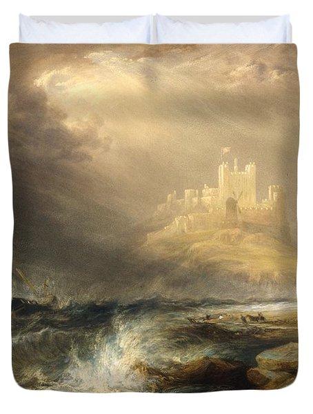 Bamborough Castle Duvet Cover by Willliam Andrews Nesfield
