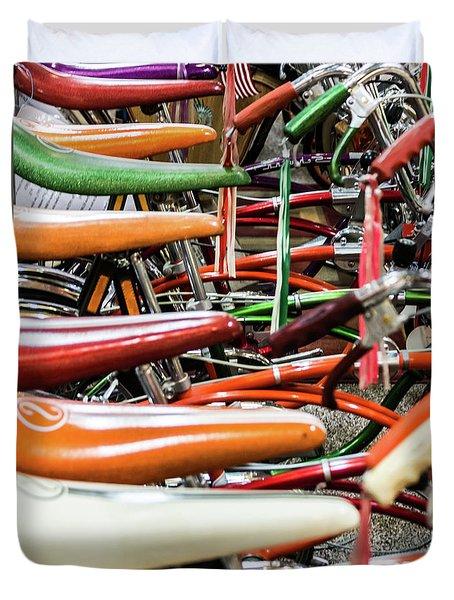 Banana Bikes Duvet Cover