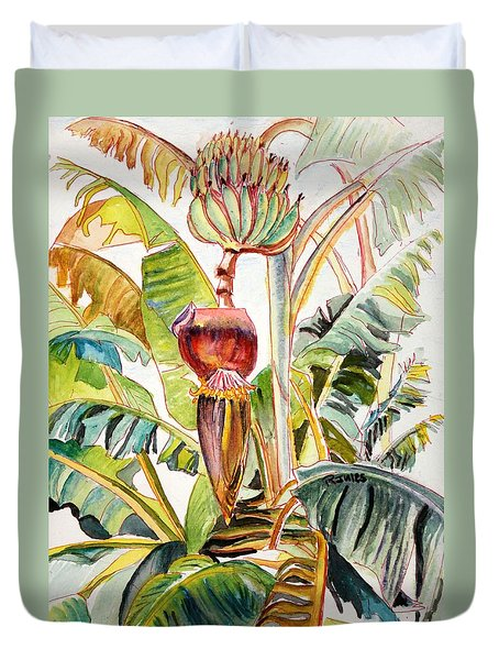 Banana Bloom Duvet Cover