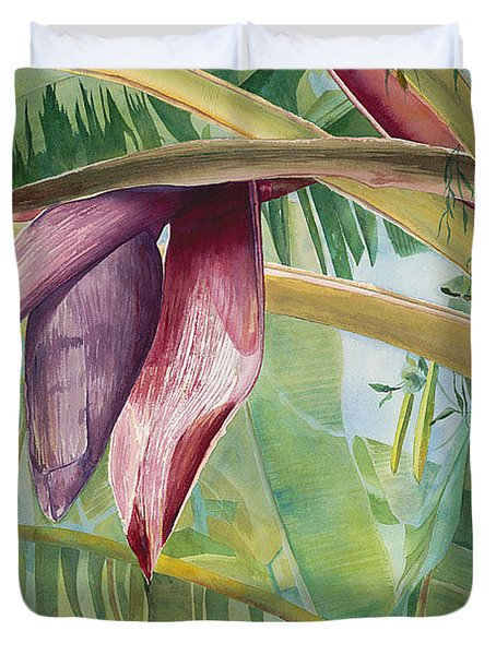 Banana Flower Duvet Cover