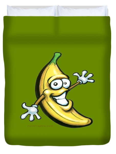 Duvet Cover featuring the painting Banana by Kevin Middleton