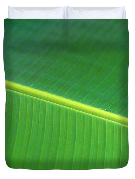 Banana Leaf Duvet Cover by Dana Edmunds - Printscapes
