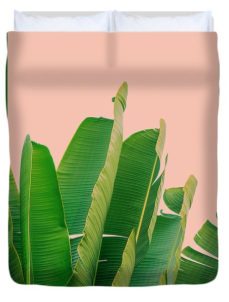 Banana Leaves Duvet Cover by Rafael Farias