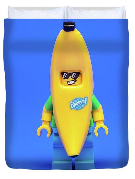 Banana Man Duvet Cover by Samuel Whitton