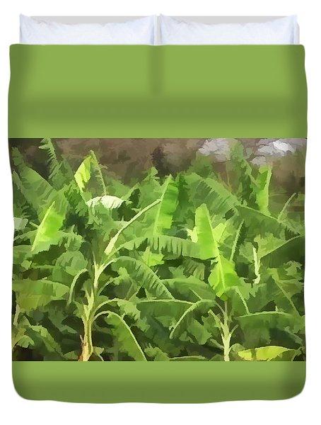 Banana Plantation Duvet Cover by Lanjee Chee