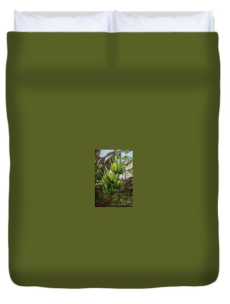 Duvet Cover featuring the painting Banana Tree by Chonkhet Phanwichien