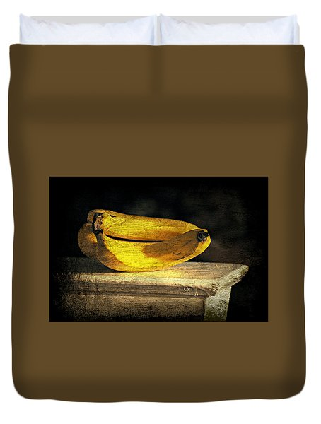 Duvet Cover featuring the photograph Bananas Pedestal by Diana Angstadt