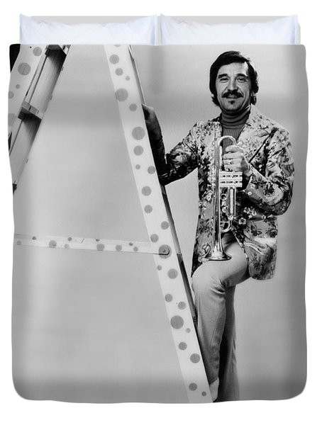 Band Leader Doc Severinson 1974 Duvet Cover by Mountain Dreams