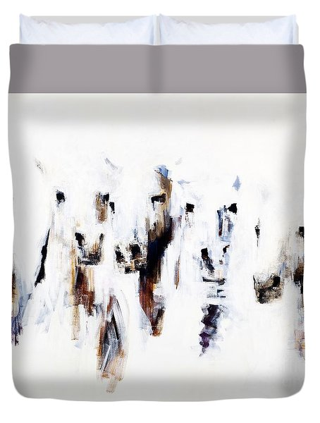 Band On The Run Duvet Cover by Frances Marino