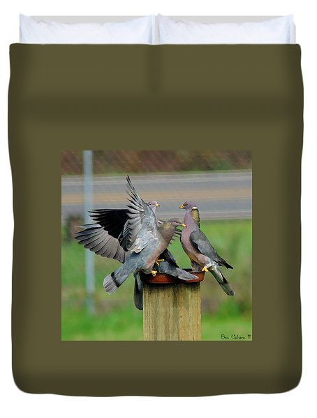 Band-tailed Pigeons #1 Duvet Cover