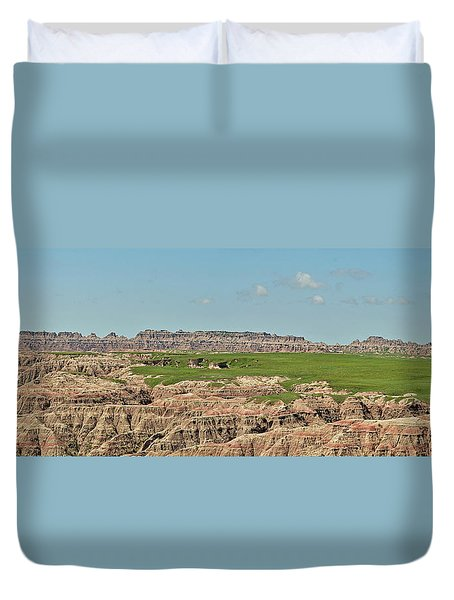 Badlands Panorama Duvet Cover