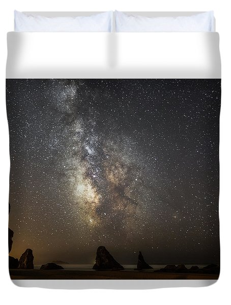 Bandon And Milky Way Duvet Cover