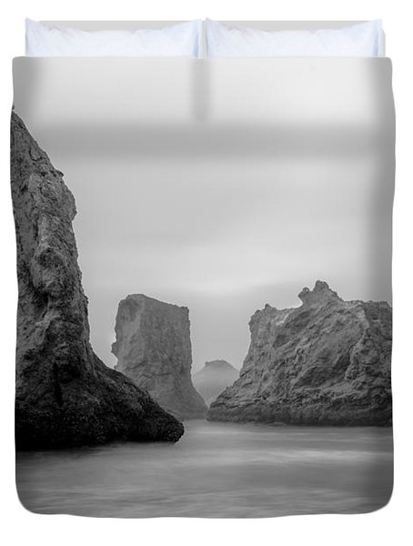Bandon Beach In The Fog Duvet Cover